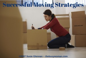 successful moving strategies by The Busy Woman - www.thebusywoman.com
