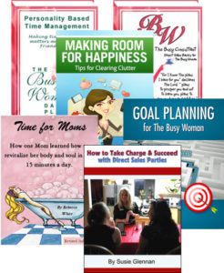 Busy Woman ebook covers on thebusywoman.com