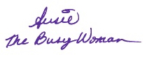 signature Susie The Busy Woman