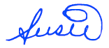 Susie signature blue on thebusywoman.com