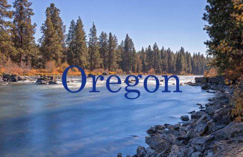 Oregon river scenic view