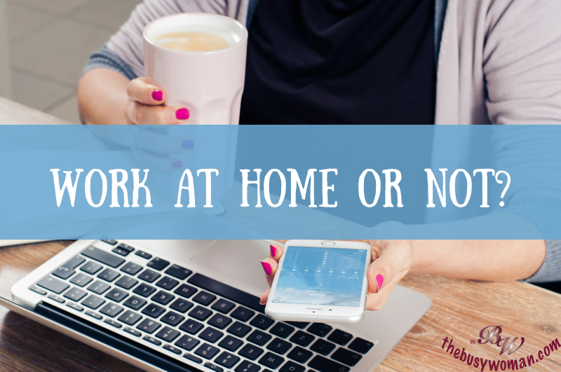 Work at Home or Not on thebusywoman.com