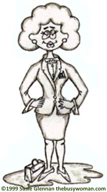 Business Woman Cartoon by The Busy Woman www.thebusywoman.com