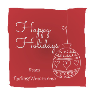 Holiday Season Planning from TheBusyWoman.com