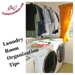 Laundry Room Organization Tips by Susie Glennan thebusywoman.com