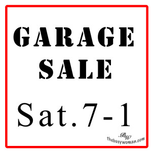 Garage Organizing Day by The Busy Woman thebusywoman.com