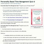 Personality Based Time Management Quiz