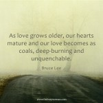 As Love Grows Older by Bruce Lee on thebusywoman.com