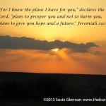 Jeremiah 29:11 sunset - The Busy Woman photo saying - thebusywoman.com