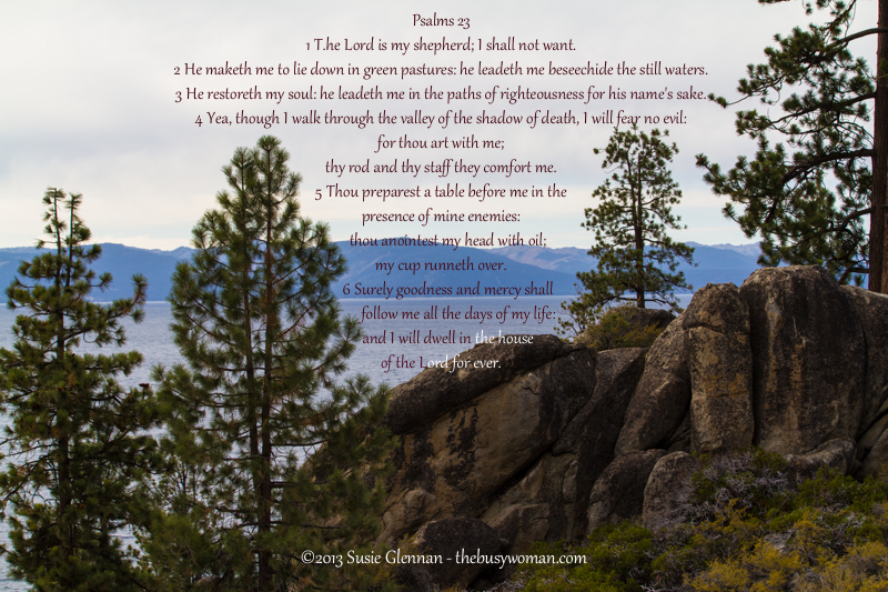 The Lord Is My Shepherd - Psalm 23 - The Busy Woman www.thebusywoman.com
