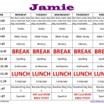 Homeschool Schedule Sample
