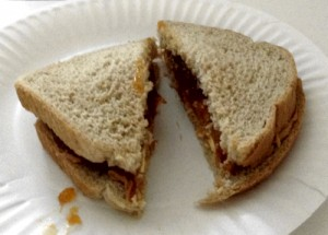 peanut butter sandwich by Susie The Busy Woman on www.thebusywoman.com