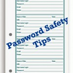 Password Safety Tips - Internet Information Daily Planner Pages by The Busy Woman - thebusywoman.com