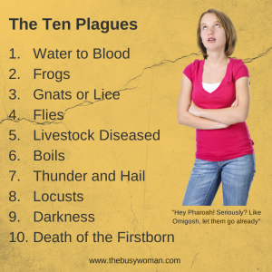 ten plagues by Susie The Busy Woman www.thebusywoman.com
