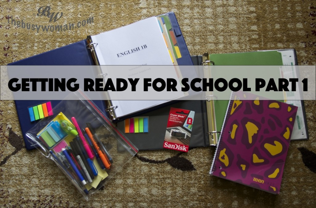 Getting Ready for School Part 1by Susie Glennan thebusywoman.com