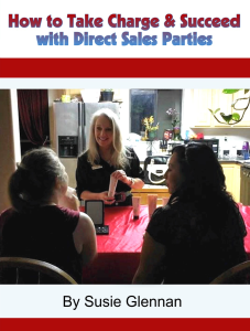 How to Take Charge & Succeed with Direct Sales Parties by Susie Glennan thebusywoman.com