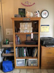 Organizing Your Office Again bookcase image on thebusywoman.com