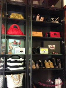 Dream shoe and purse cabinet on thebusywoman.com decluttering journey