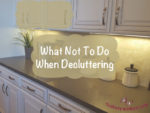 What Not to do When Decluttering on thebusywoman.com