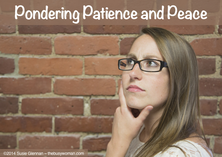 Pondering Patience and Peace on thebusywoman.com