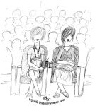 "Is The ""Positivity"" Movement Hurting Your Relationships? image of women at the movies on thebusywoman.com"
